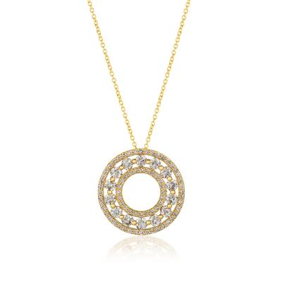 14K Honey Gold™ Pendant with Nude Diamonds™ 1  5/8 cts.