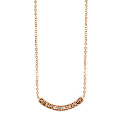 14K Strawberry Gold® Necklace with Ombre Chocolate Diamonds® 1/3 cts.