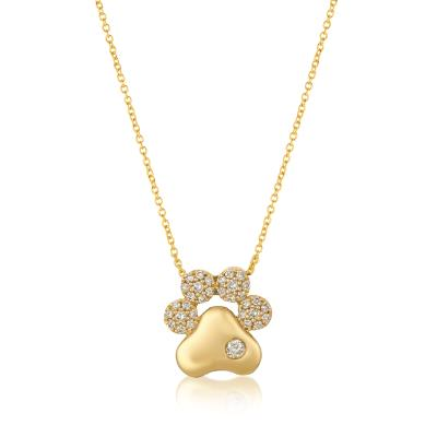 14K Honey Gold™ Pendant with Nude Diamonds™ 1/3 cts.