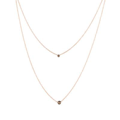 14K Strawberry Gold® Necklace with Chocolate Diamonds® 3/8 cts.