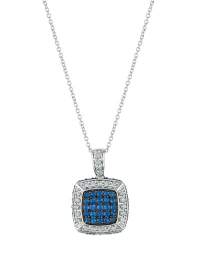 14K Vanilla Gold® Blueberry Sapphire™ 3/4 cts. Pendant with Nude Diamonds™ 1/3 cts.