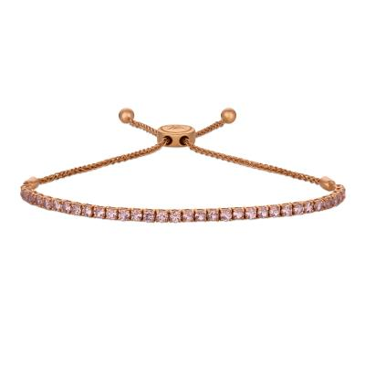 14K Strawberry Gold® Rose Spinel 2 cts. Bolo Bracelet