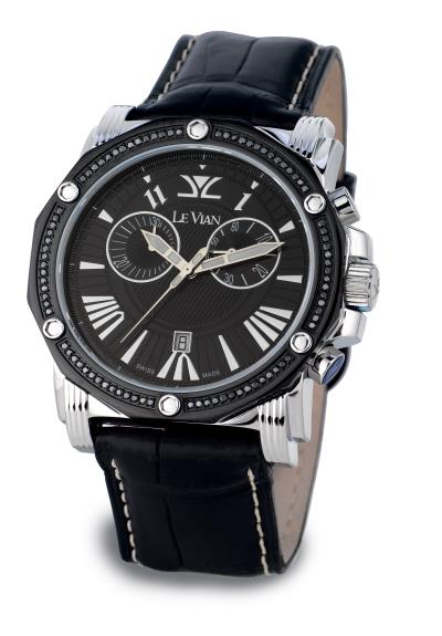STL Watch with Black Diamonds 5/8 cts.