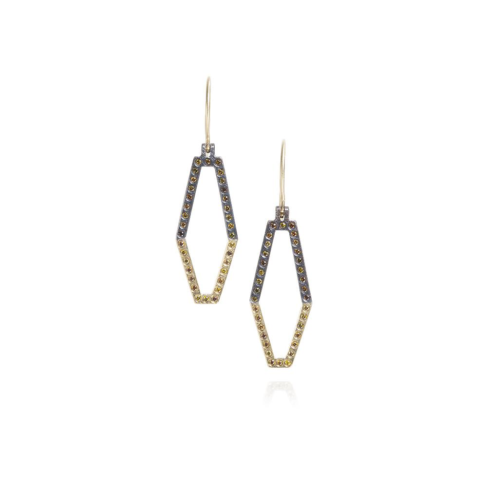 Dangle earrings with Autumn Diamonds 034ctw
