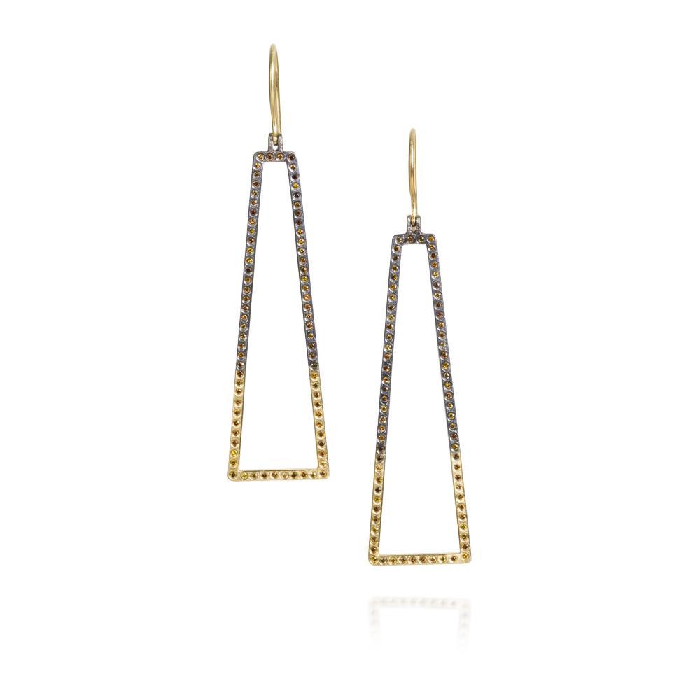Dangle earrings with Autumn Diamonds 078ctw