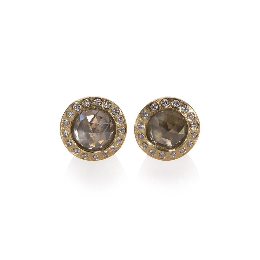Stud earrings with fancy diamonds 1915ctw a