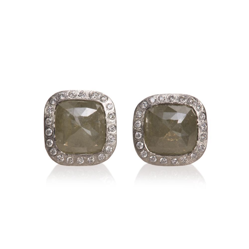 Stud earrings with fancy cut diamonds 310ctw