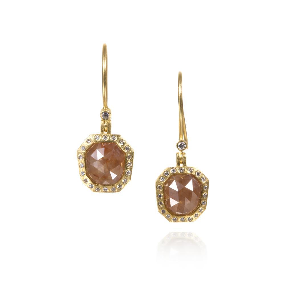Earrings with fancy diamonds 382ctw white bri