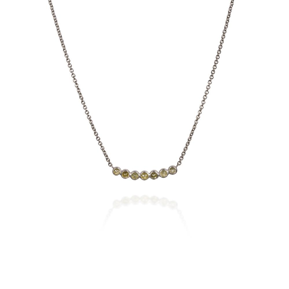 Necklace with rose cut diamonds 082ctw and