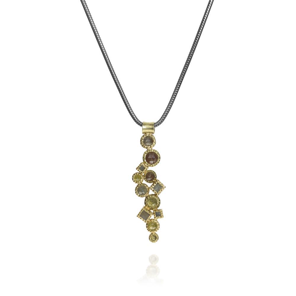 pendant necklace with rose cut diamonds 204c