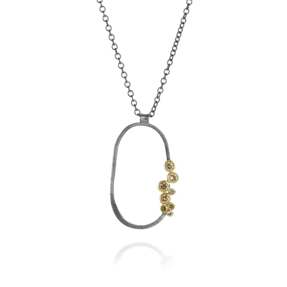 necklace with autumn diamonds 114ctw and