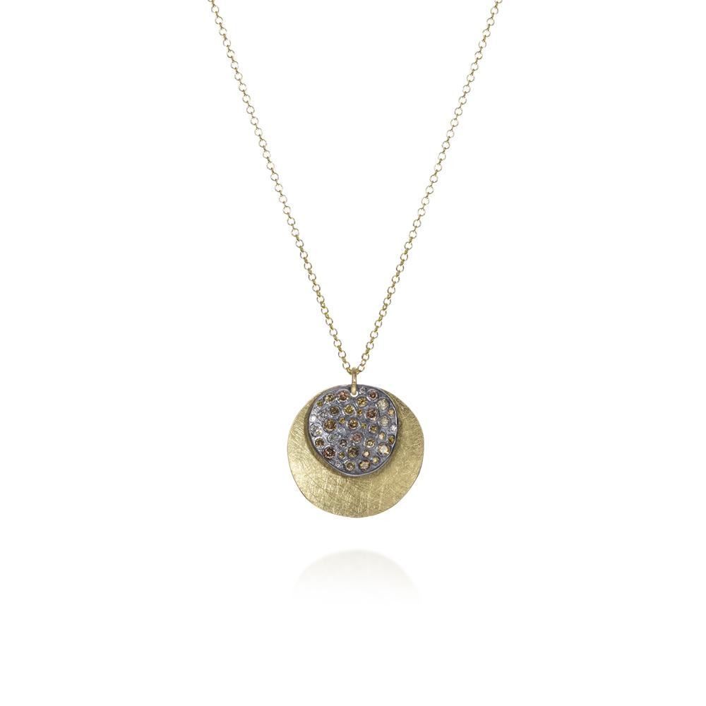 Pendant necklace with autumn diamonds 048c
