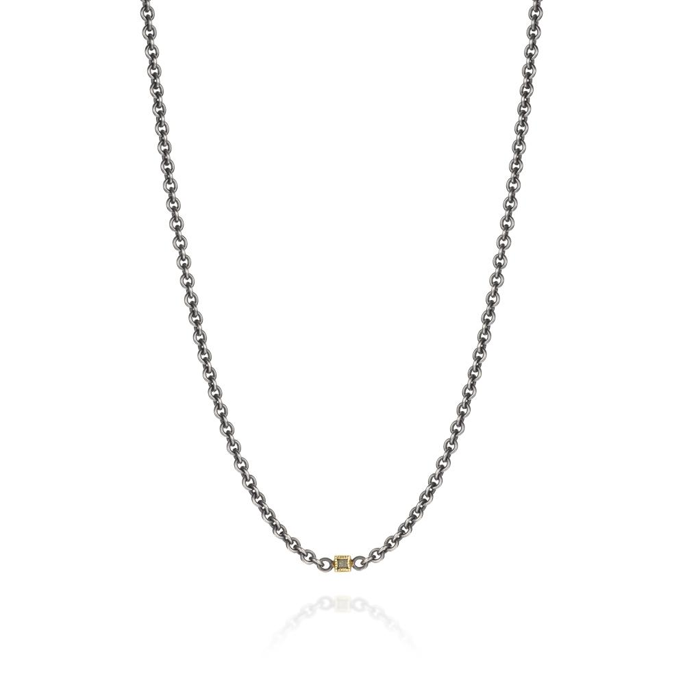 Necklace with raw diamond cubes 110ctw in 1