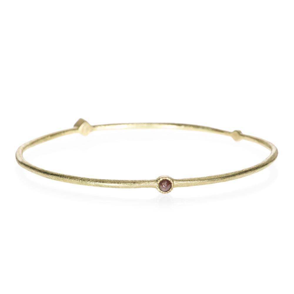 Bangle bracelet with rose cut diamonds 033ctw