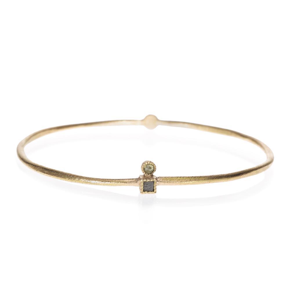 Bangle bracelet with rose cut diamonds 033ctw