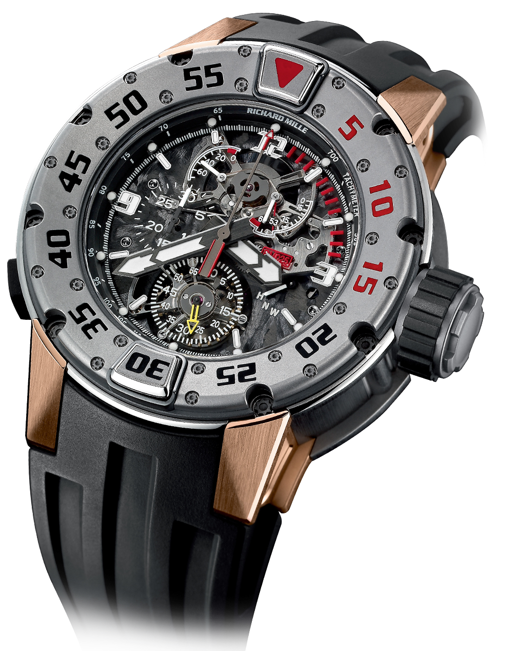 Rm 025-tourbillon chronograph diver's watch