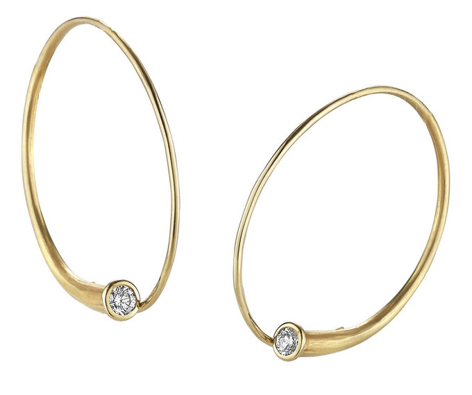 vortex earrings in gold with diamonds
