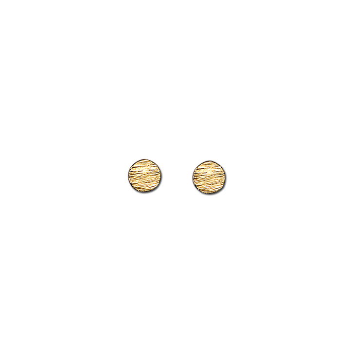 Water oval gold small earrings