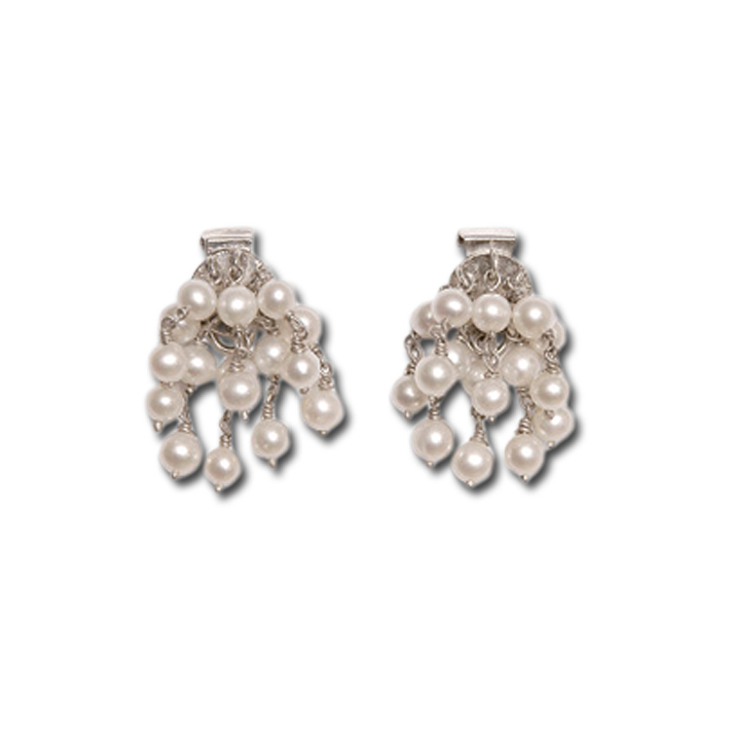 Pearls deco small earrings