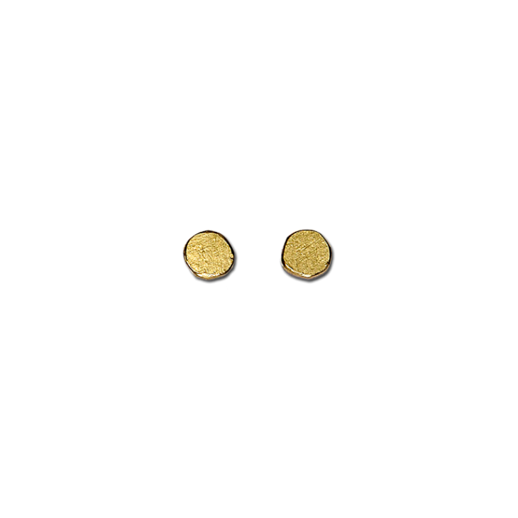 Paper irregular gold small stud earrings
