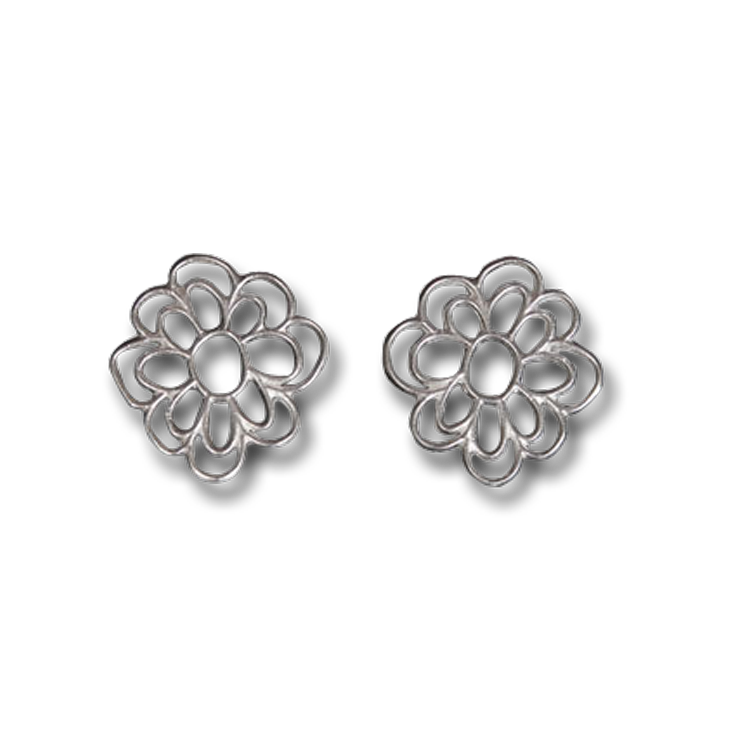 Kellie flower large stud earrings