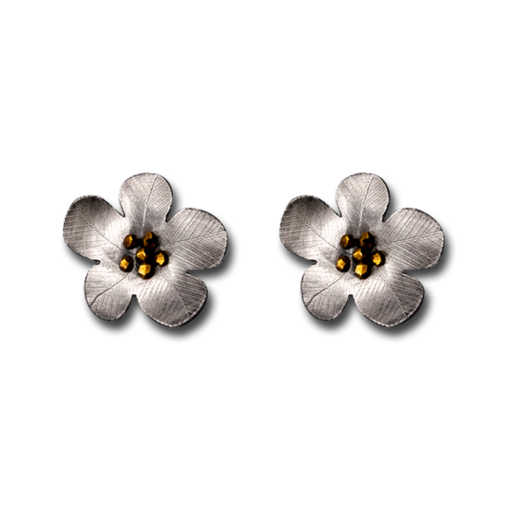 daniel flower rounded earrings