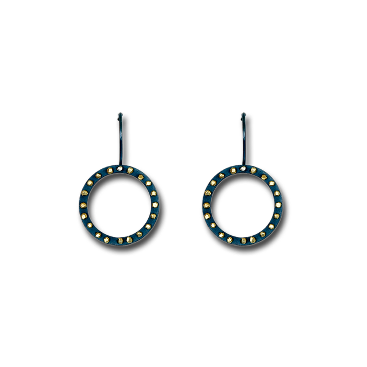 Spangles outline large round earrings