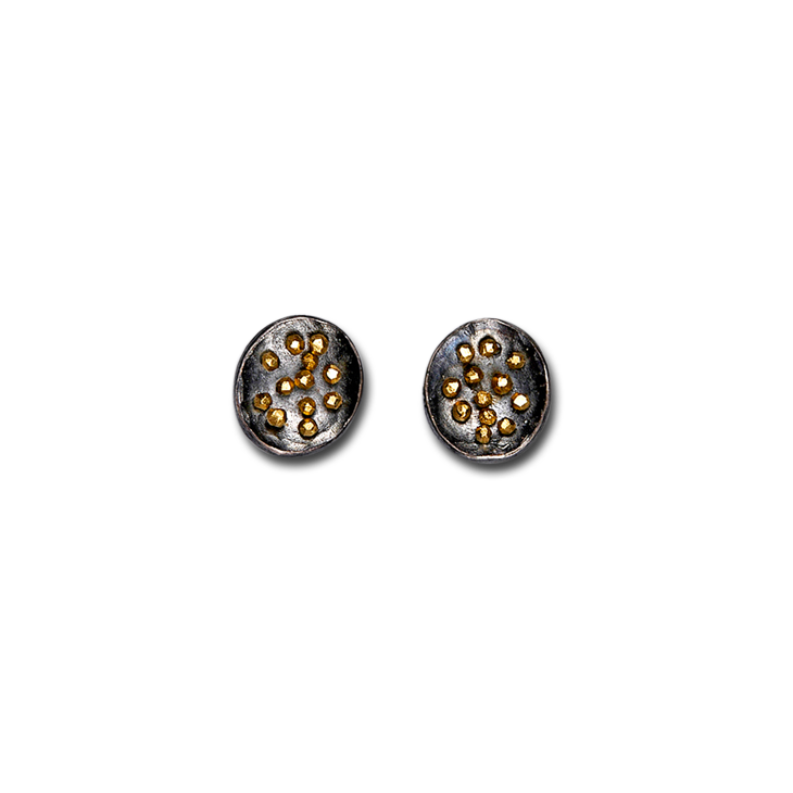 Spangles oval stud small earrings