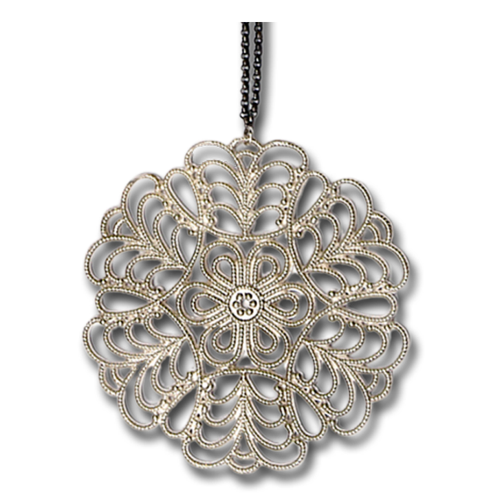 Snowflake Large Pendant Necklace