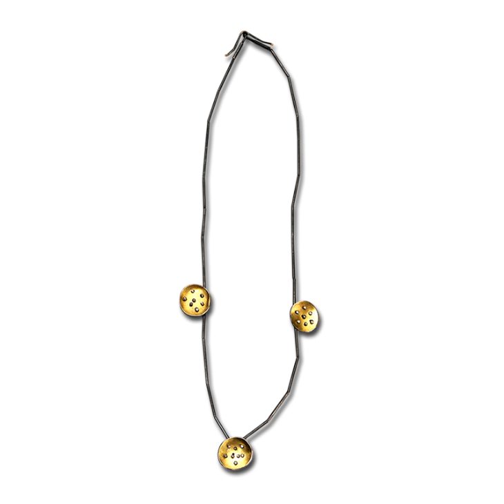 Spangles 3-gold necklace