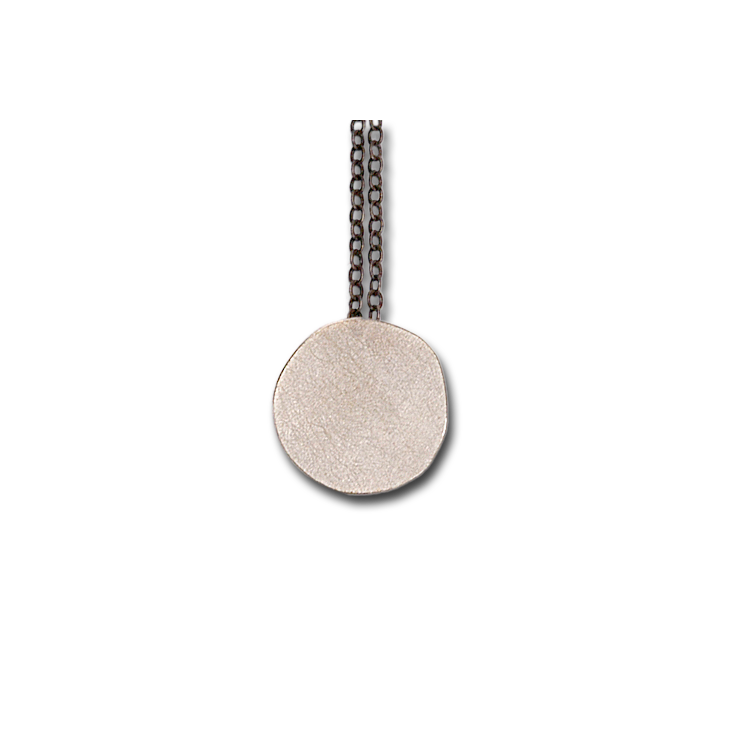 Full Moon Silver Pendant Necklace