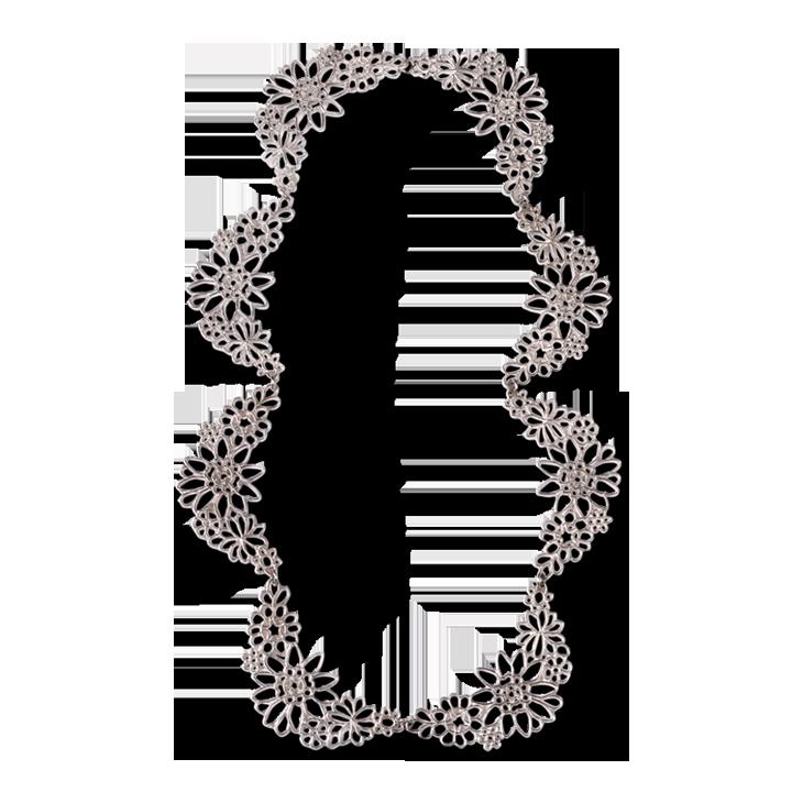 Kellie Scallop Lace Necklace