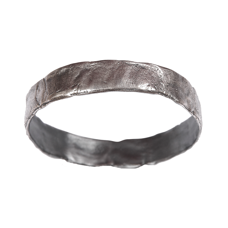 Parchment wide bangle (patina)