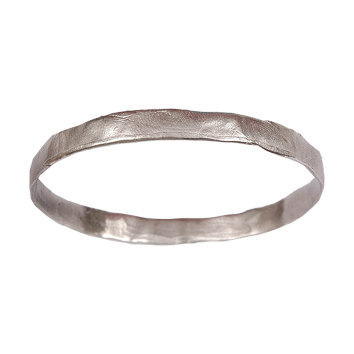 Parchment thin bangle