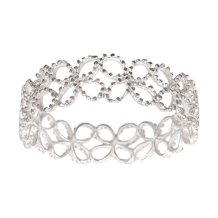 victoria 4-petal outline bangle