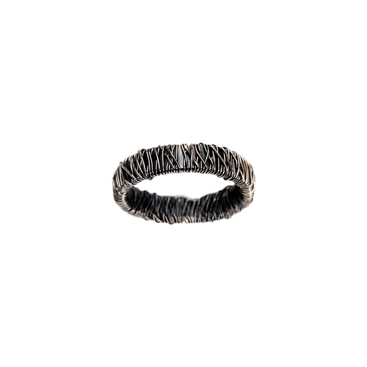 Chaos wide full silver ring