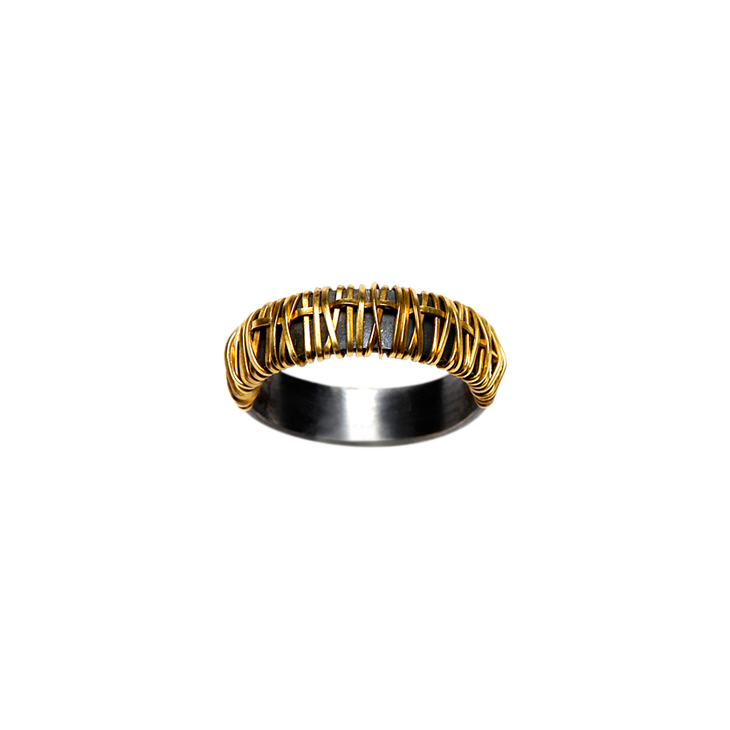 Ph 4mm half gold ring