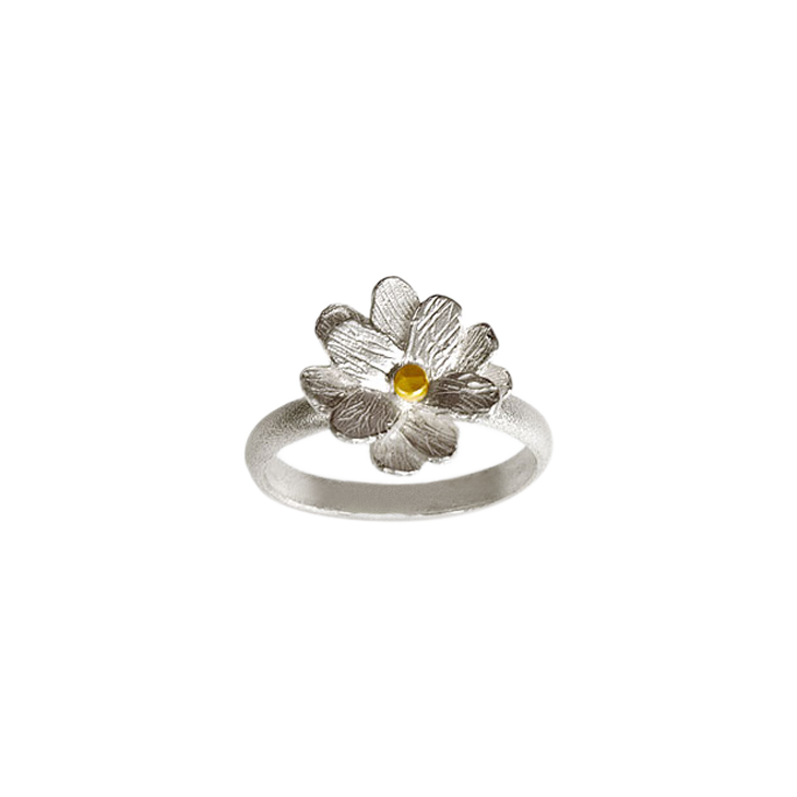 Wax flower rounded large ring
