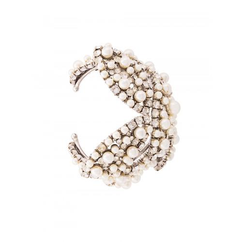 pearl and rhinestone cuff