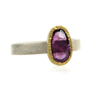 Bee & Flower Pink Sapphire Ring