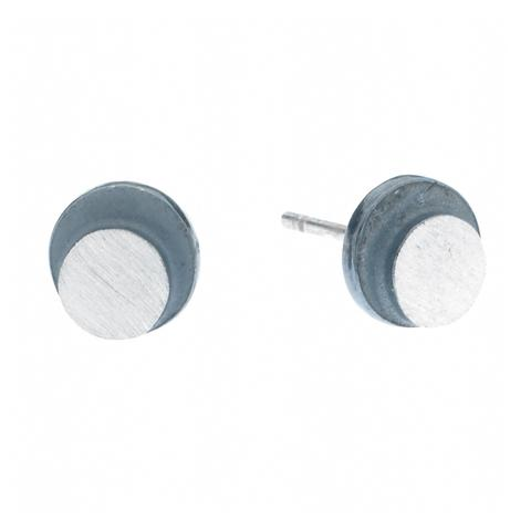 eclipse medium circle post earrings