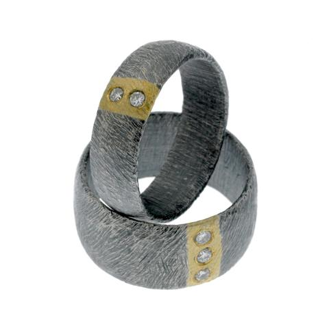 carved vertical stripe ring