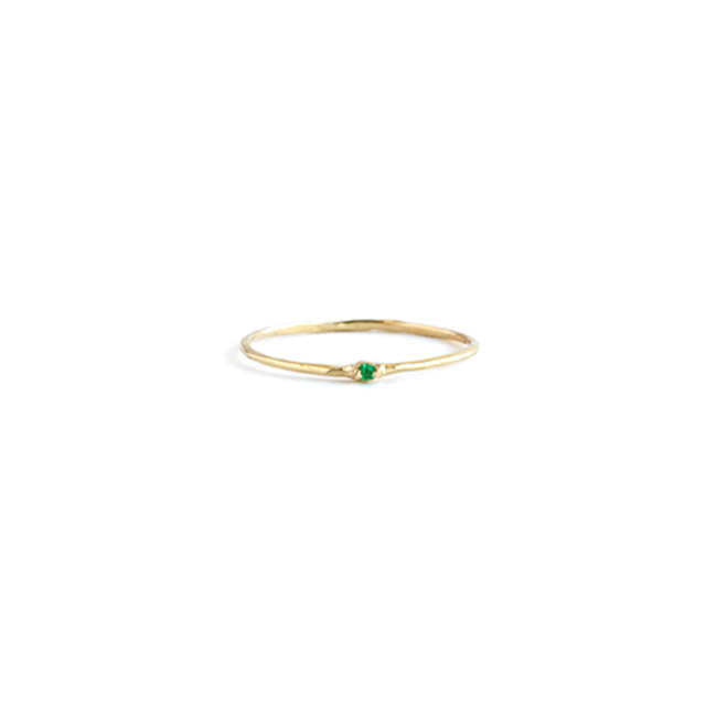 Emerald whisper ring