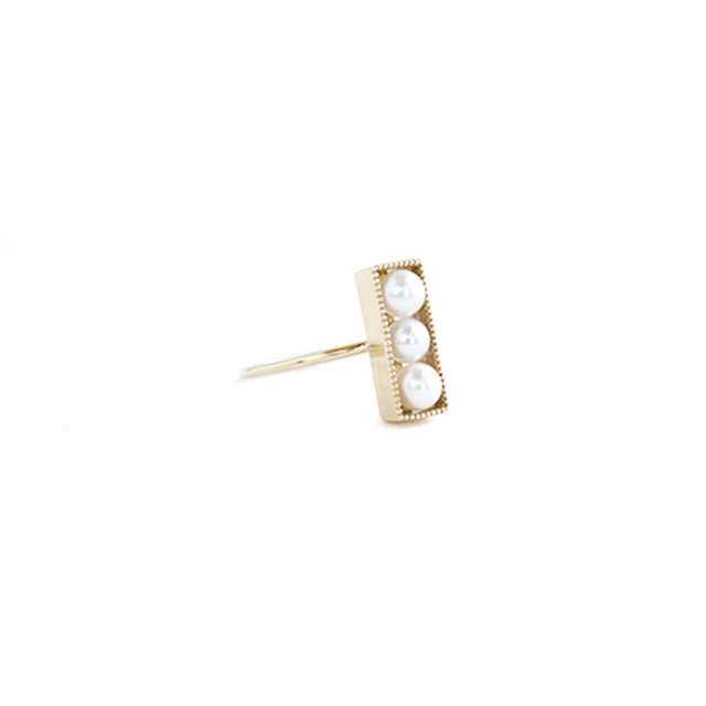 Rectangle pearl ring