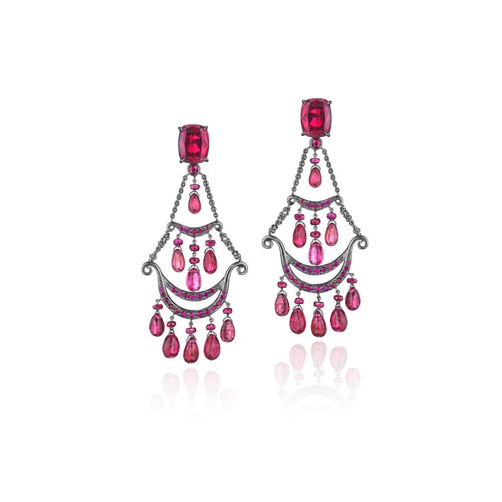 couture goddess chandelier earrings