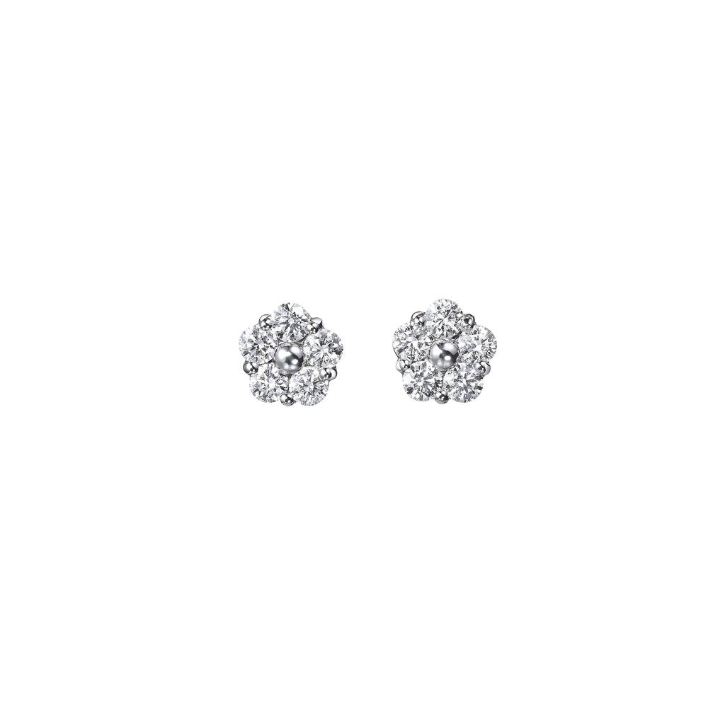 couture anzia diamond flower earrings (large)
