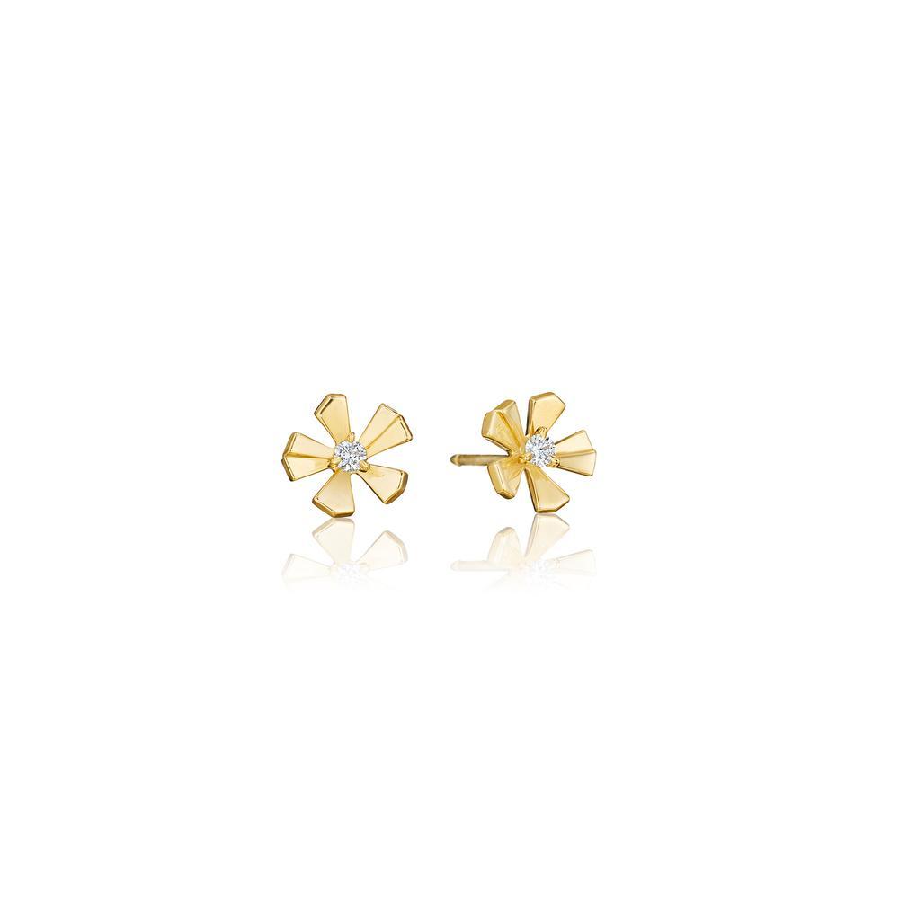wonderland diamond orchid stud earrings (medium)