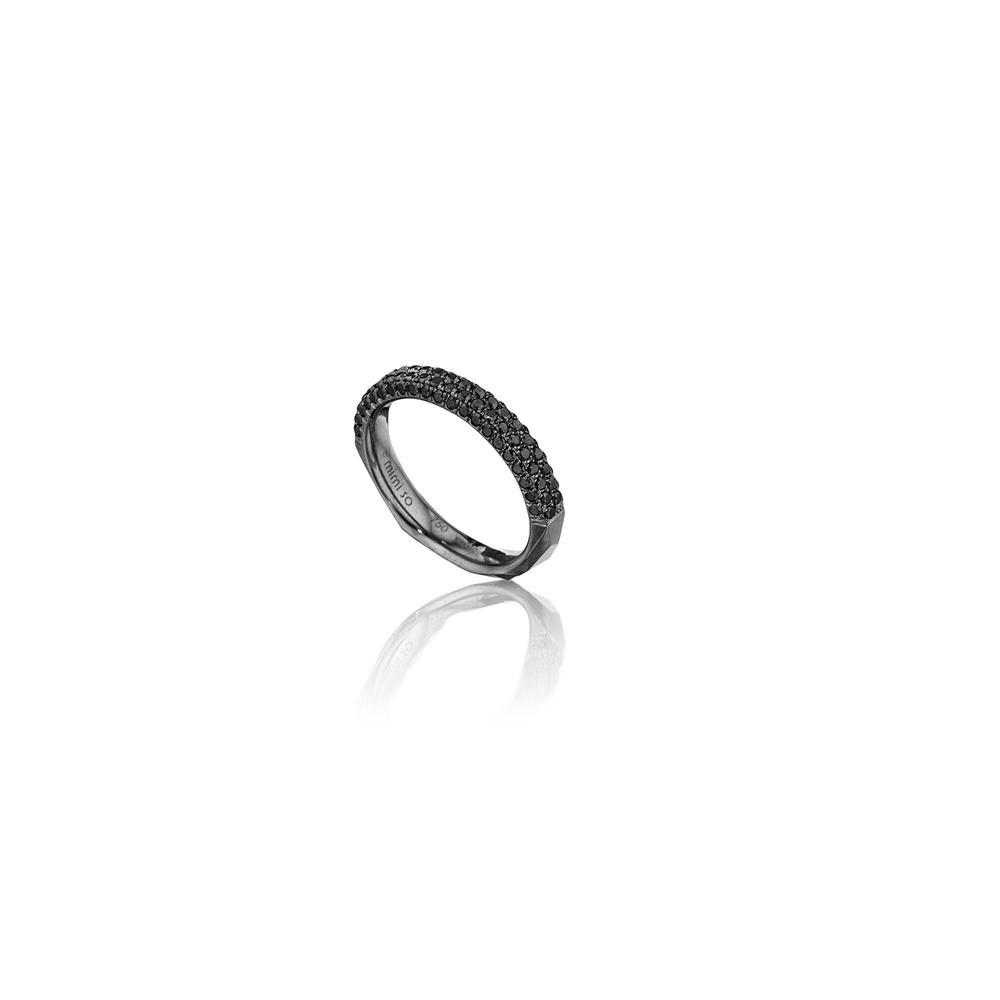 jackson switch four row black diamond stackable ring