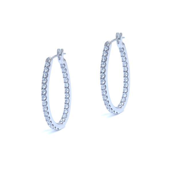 diamond oval hoop earrings 1.34ct. tw. (in 18k white gold)