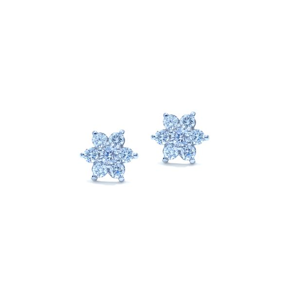 florettes diamond earrings 0.96 ctw.